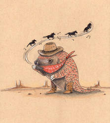 Pangolin Cowboy
