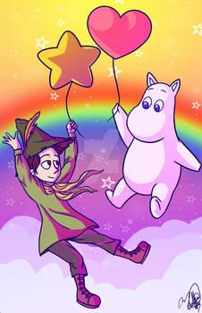 Moomin y Snufkin