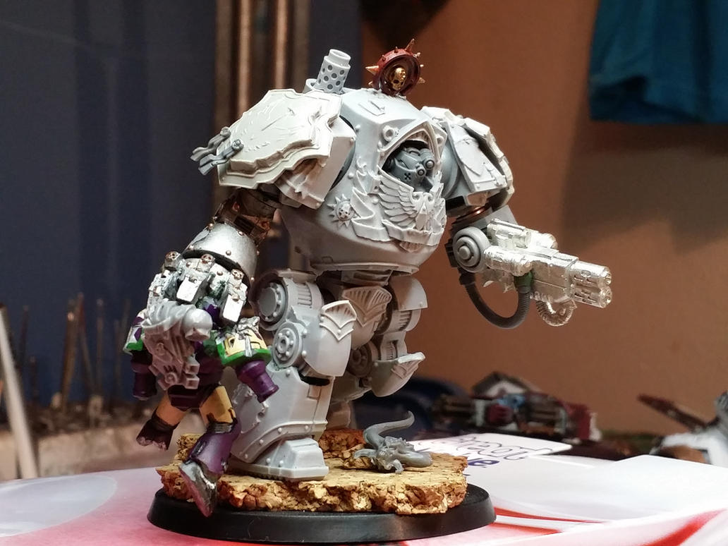 WIP Grey Knight contemptor Dreadnought by Hellblade87