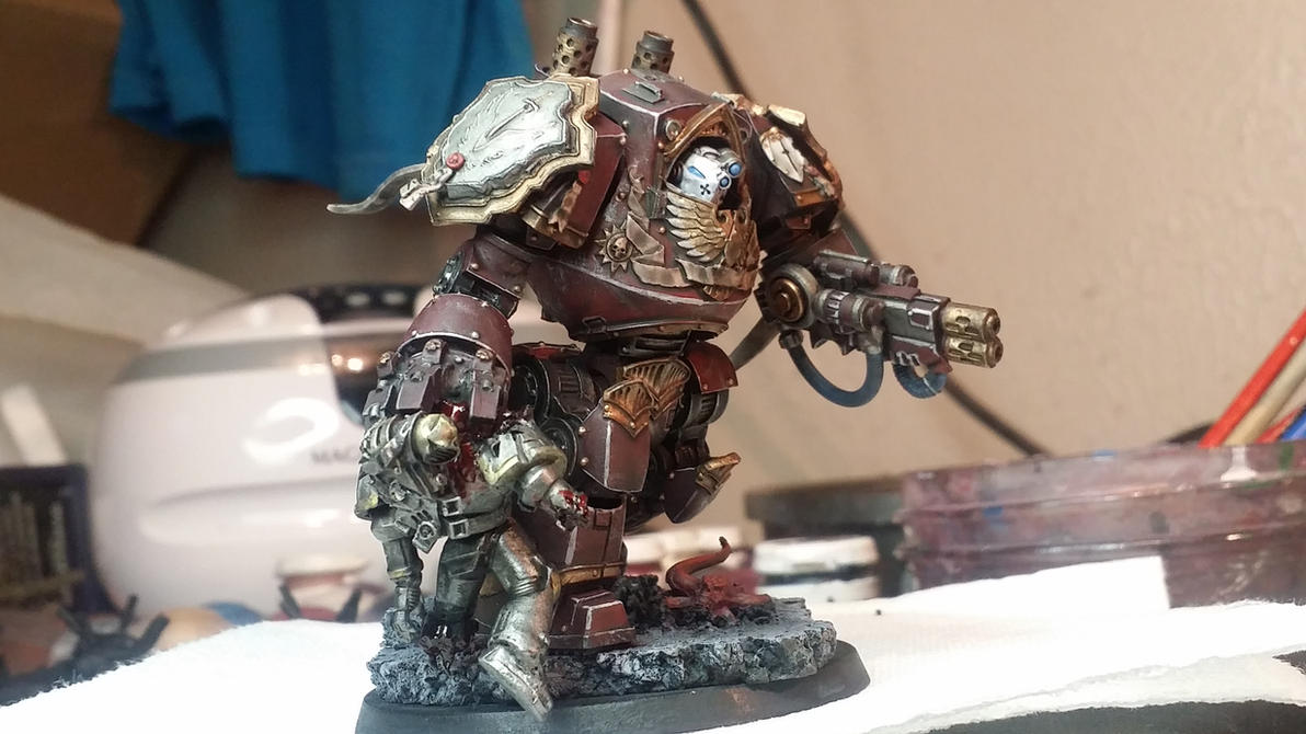 Grey knights Contemptor Dreadnought by Hellblade87