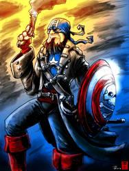 Cap'n America by RedGrimRune