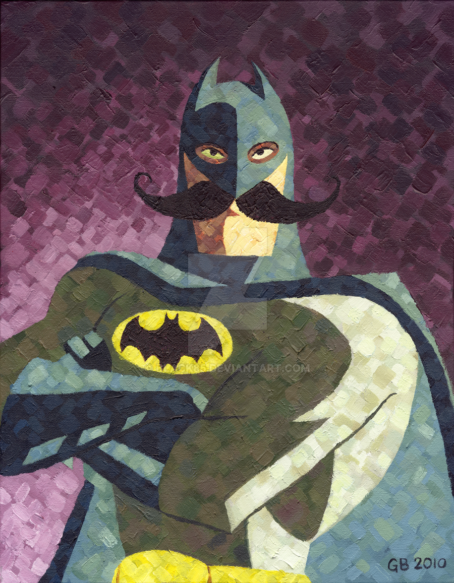 They forgot to shave - Batman by Black85