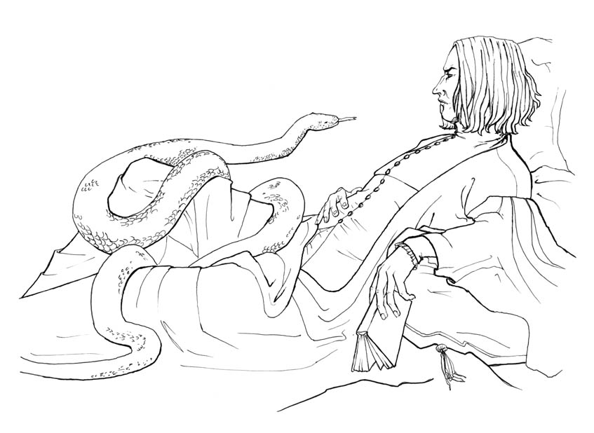 Severus Snape Coloring Pages Coloring