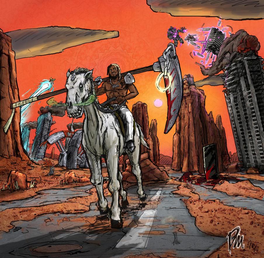 Meechy Darko Flatbush Zombies FanArt 1 By DrewMasonArt