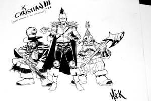 Bren Lucca comics sketch