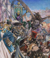 9th Age Rulebook Cover, oil on canvas.