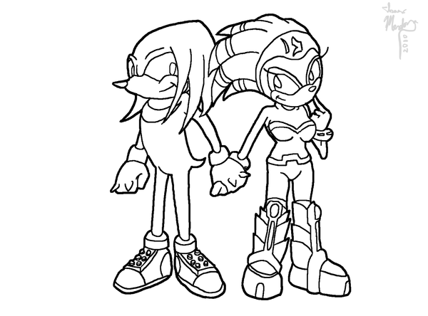 Line Art Xl 2010 : Knuckles and shade line art by iice on deviantart