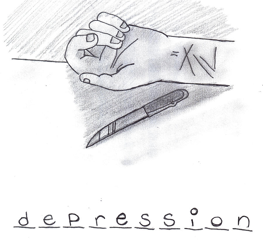 Depression Cuts By Weatethecrayons On Deviantart