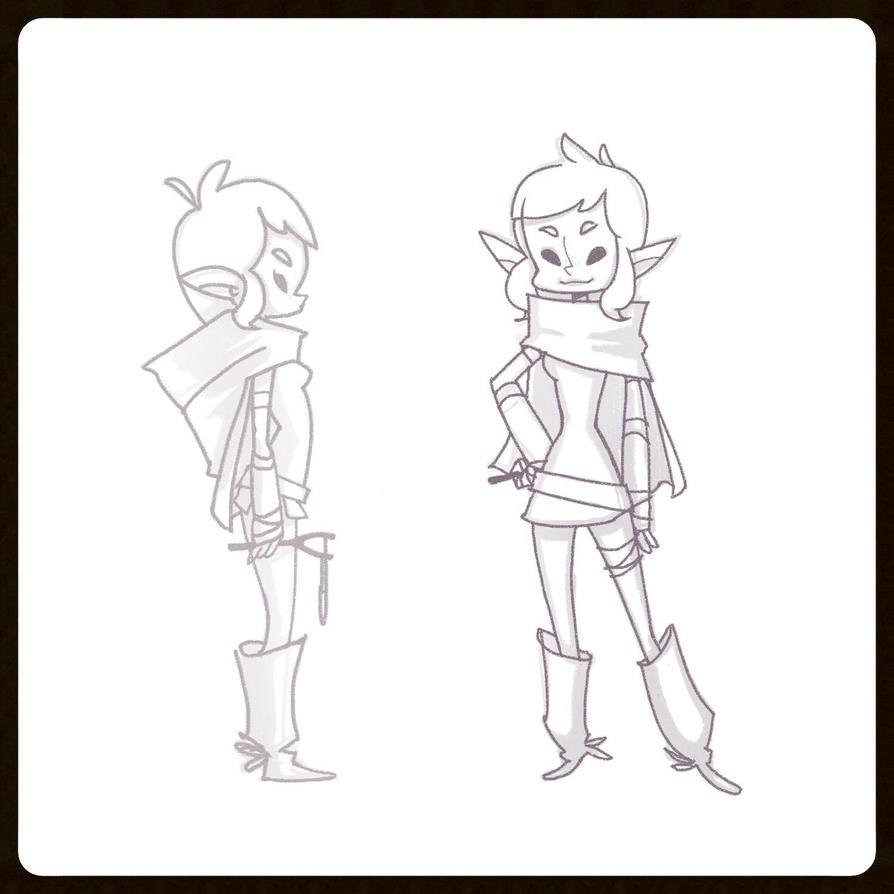Drow Character Concept by kiska242