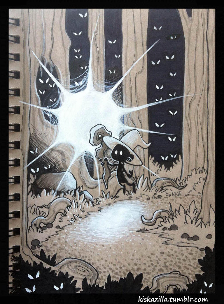 spooky forest by kiska242
