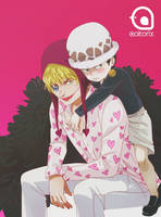 Law and Corazon! by AoiTorix