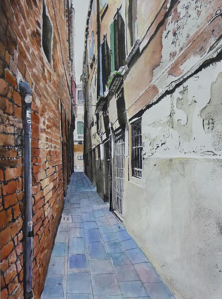 Venetian Calle by ailislilly