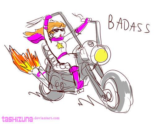 Biker Peach -quick sketch