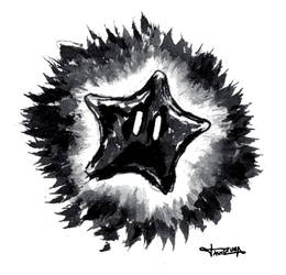Dark starman inktober fanart