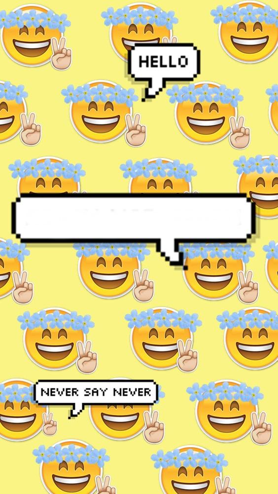 Fondo para tu celular emoji by princessdesigns on deviantart for Fondos 3d para celular