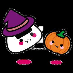Commission: Halloween Onigiri by xraiko
