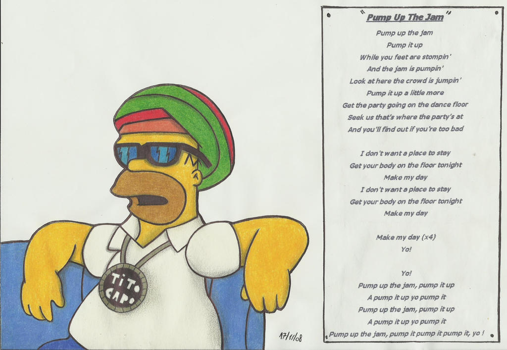Homero and technotronic by stefano roca on deviantart for 1234 get your booty on the dance floor lyrics
