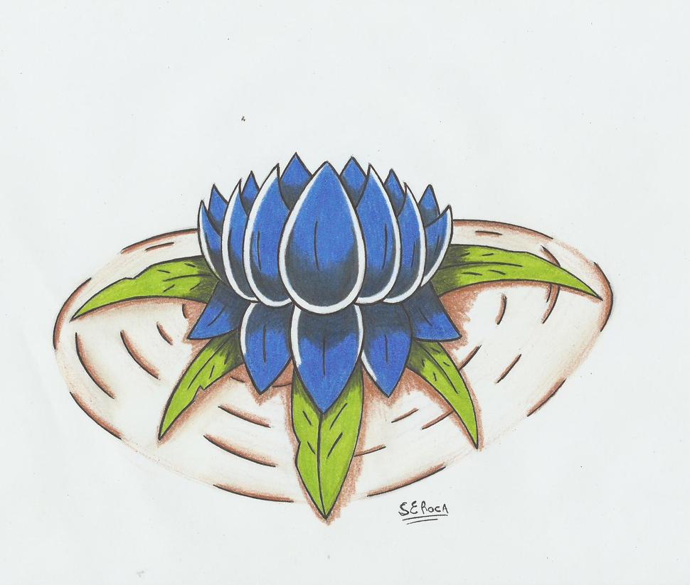 flor de loto azul!!!! by stefano-roca