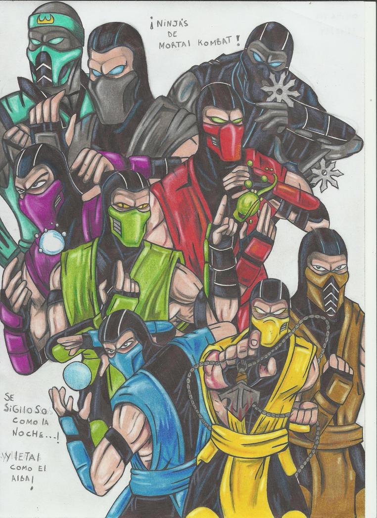 Ninjas Mortal kombat!!!!!! by stefano-roca