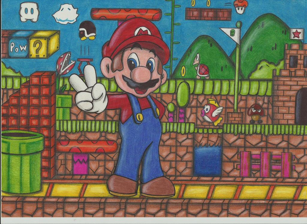 Mario and mushroom kingdom!!! by stefano-roca