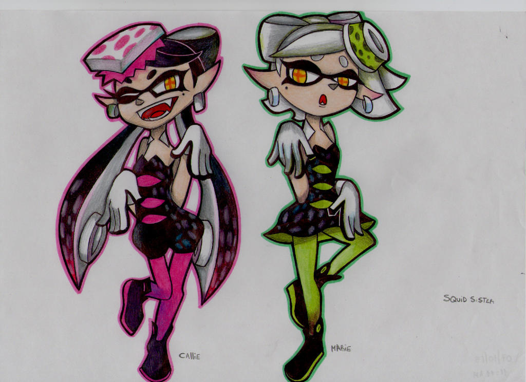 callie and marie splatoon by stefano-roca