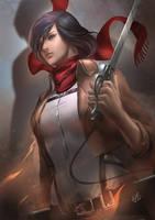 Mikasa by AivaBlue