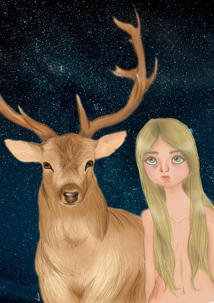 Girl who felt in love with a buck by iwannakissallama