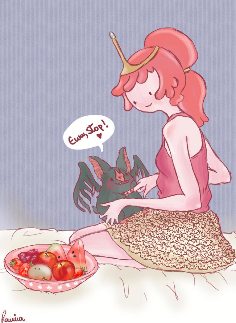 Feeding Marceline by iwannakissallama