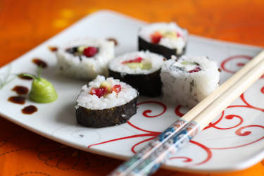 Sushi meal by kupenska