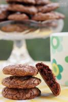 Triple chocolate cookies by kupenska