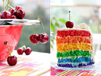 Rainbow cake by kupenska