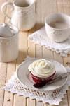 Red velvet cupcake retro style