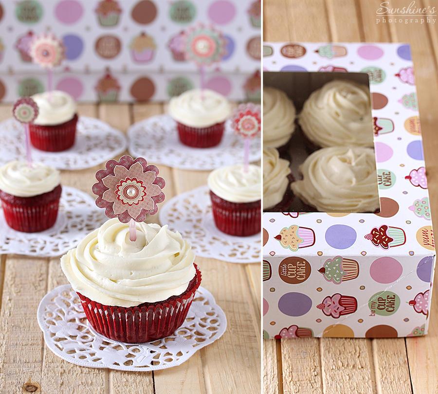 Red velvet cupcakes - packed by kupenska