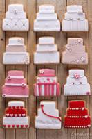 Wedding cake cookies by kupenska