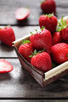 Fresh strawberries by kupenska