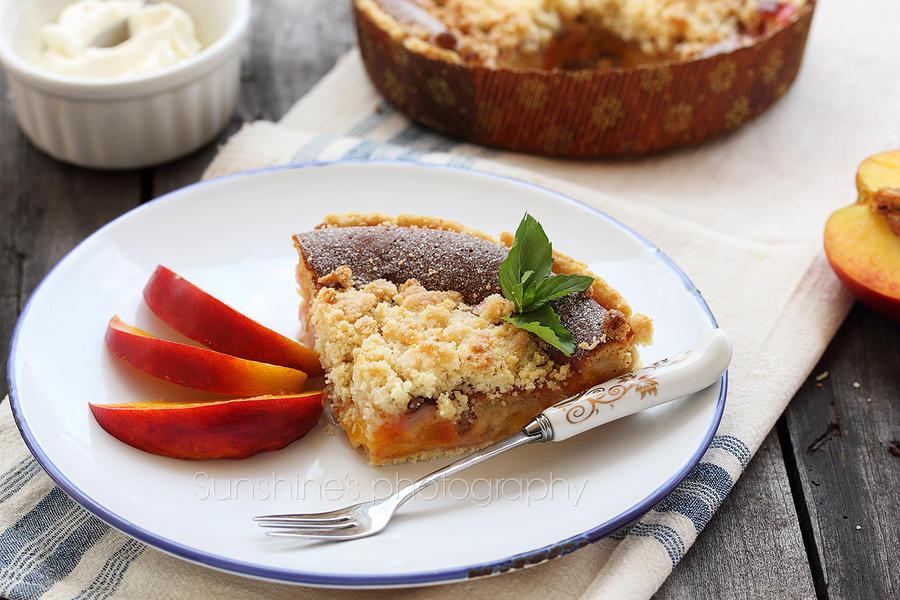 Custard nectarine pie by kupenska
