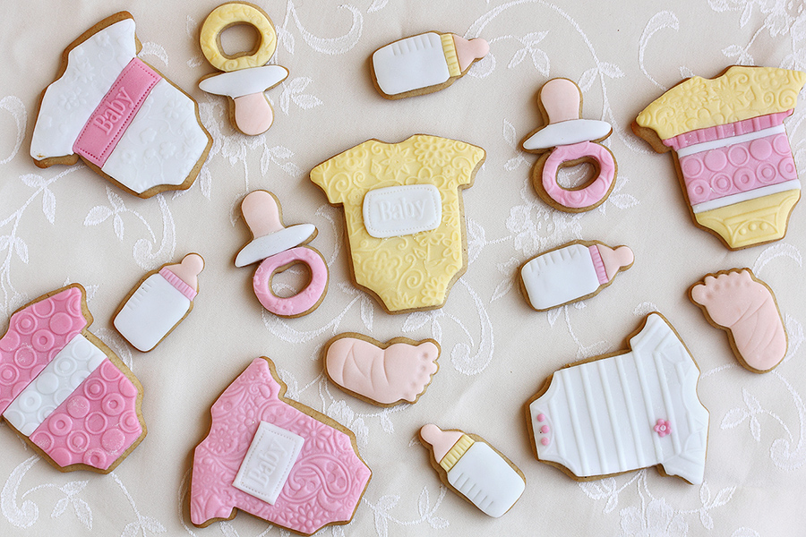 Baby shower cookies by kupenska
