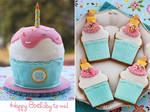 Giant Cupcake Cake by kupenska