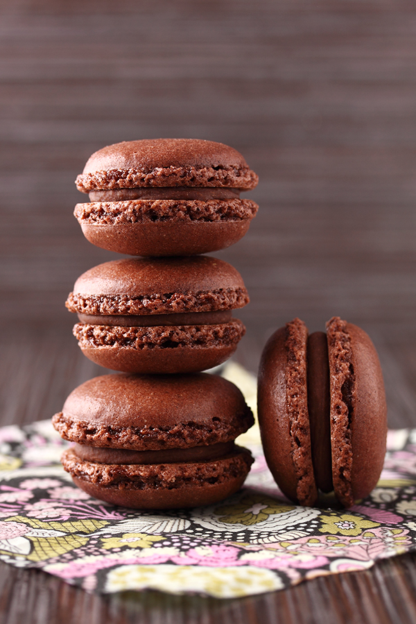 Chocolate french macarons by ~kupenska