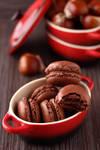 Chestnuts chocolate macarons