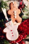 Christmas tree cookie decoration