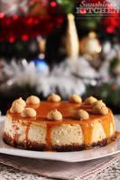 Cheesecake with amaretti and caramel by kupenska