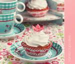 Flower cupcakes - vintage style