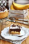Chocolate and caramel banana pie