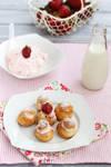 Strawberry profiteroles