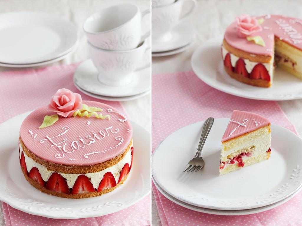Fraisier Cake Design
