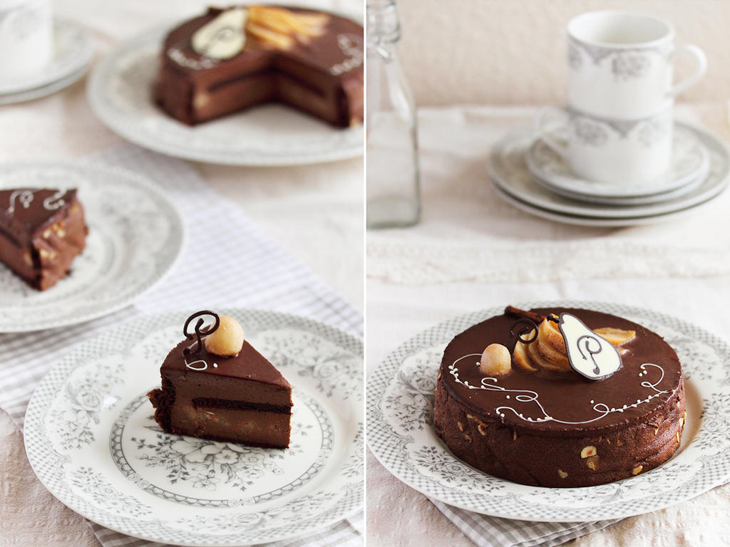 Chocolate and caramel pears entremet by kupenska