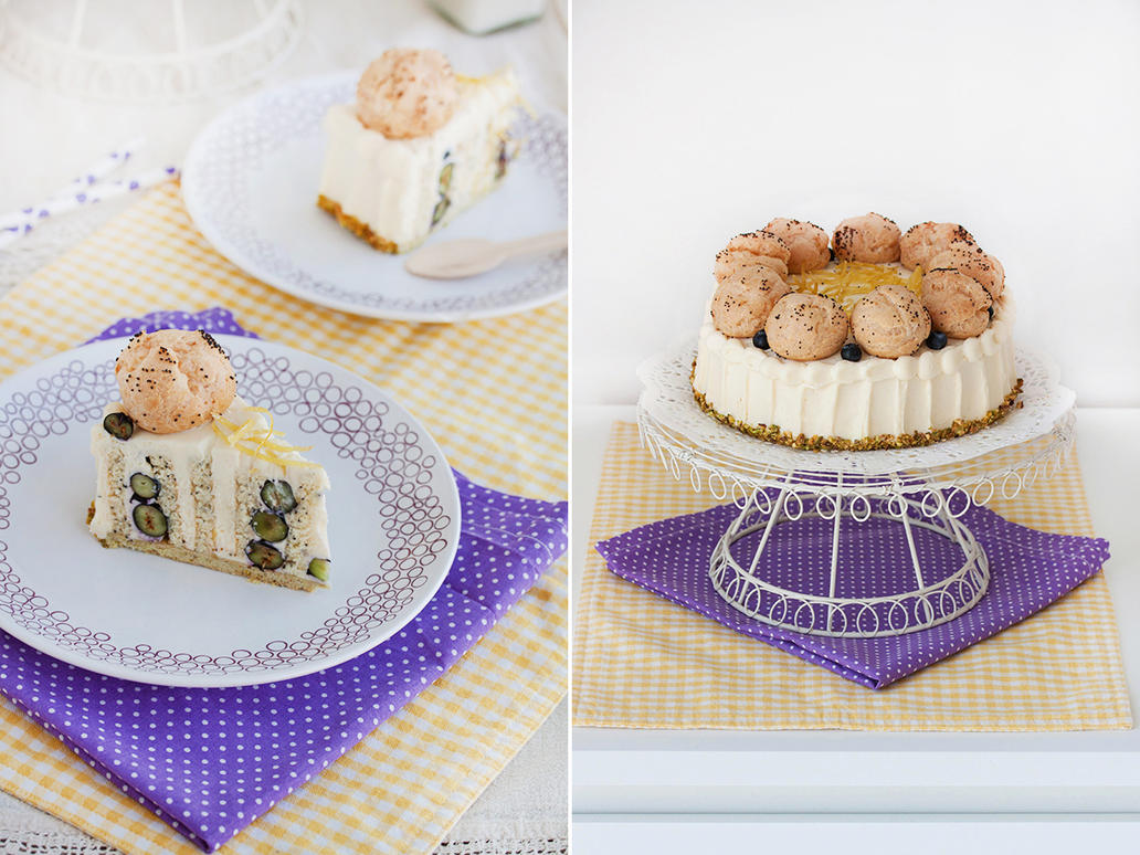 Lemon, poppy seeds and blueberry cake by kupenska