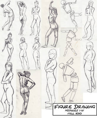 Figure Drawing Exercises 1-4 by CannibalPineapple