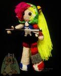Demencia inspired VILLAINOUS crochet doll